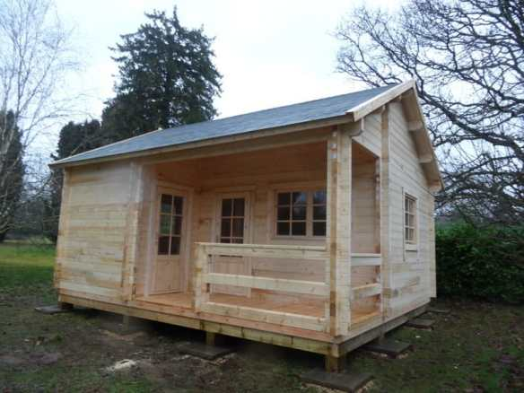 The log cabin build is completed and now the hard work starts for Mr Teague