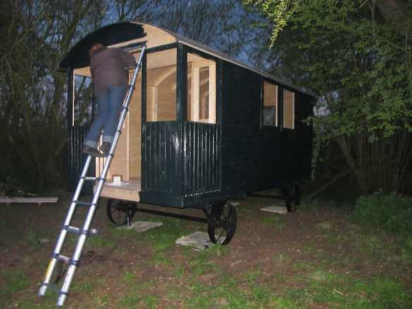 painting the shepherd hut