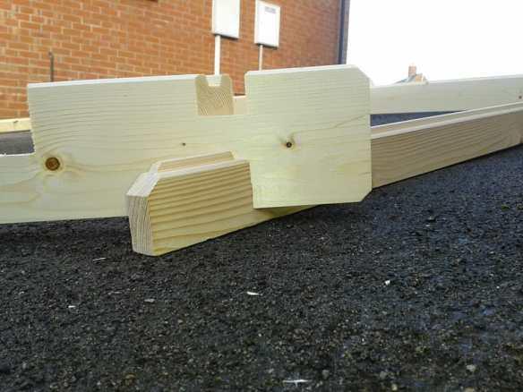 Upside down wall log.