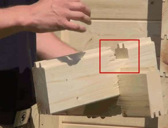 This is just a straight cut, there is no secondary cut in the log. The secondary cut helps to form a seal and keeps out the weather. Without this there are possibly tons of problems.