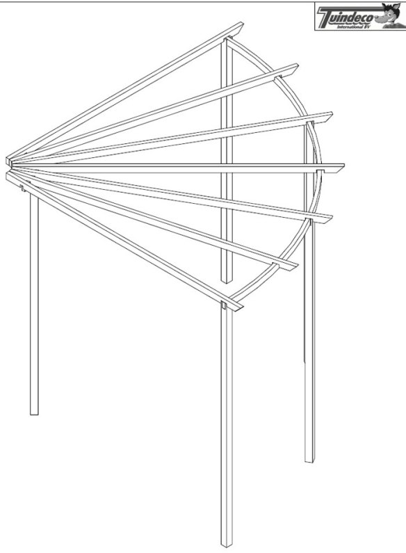 Corner pergola - click for an example