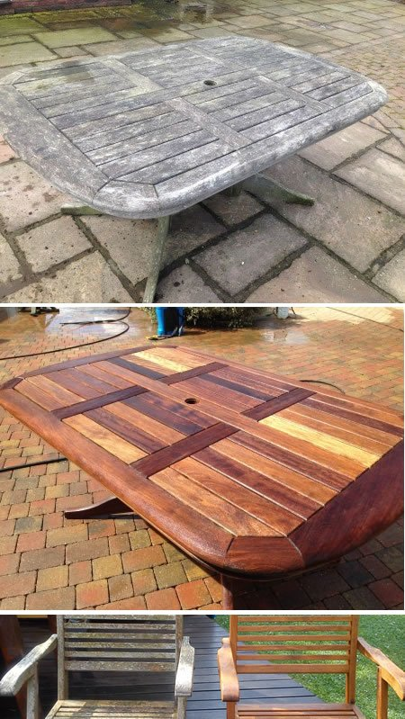 Restoration of a hardwood table