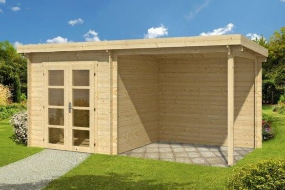 Elburg log cabin being offered with Free Easy roof membrane