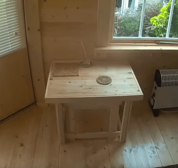 A nest of tables made from Spruce floor boards.
