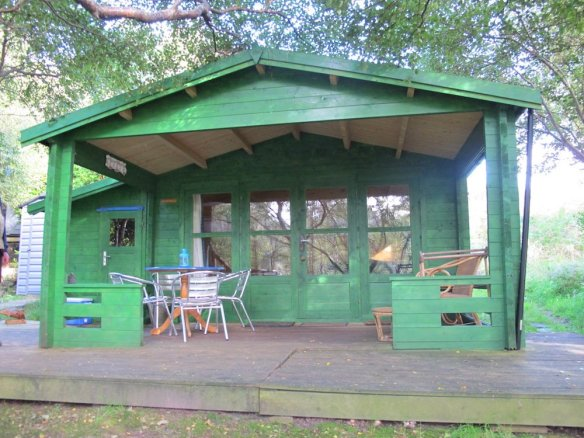 Coventry 58mm log cabin, perfect for a glamping project.