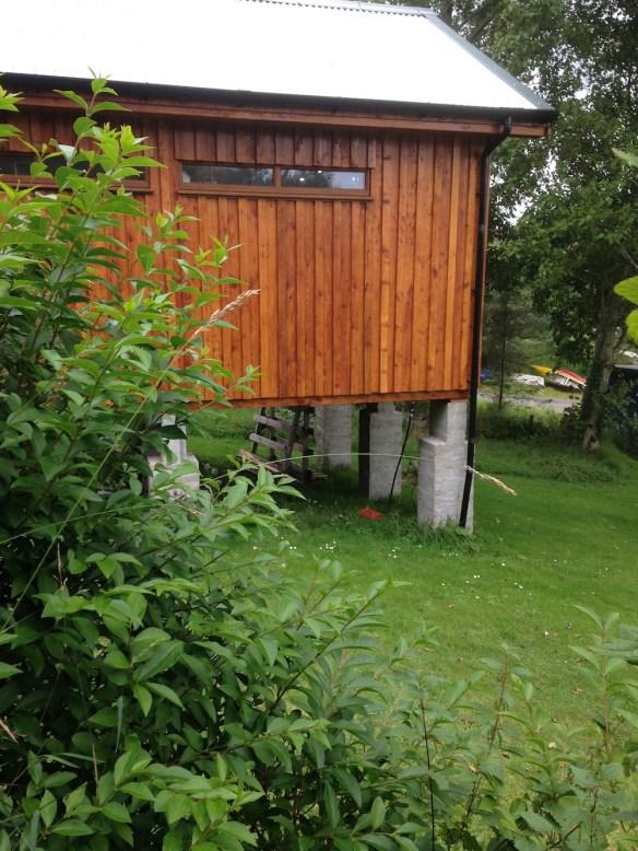 Amazing timber frame base.