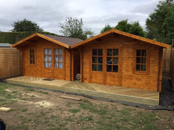 Ulrik 45mm log cabin, also available with double glazing
