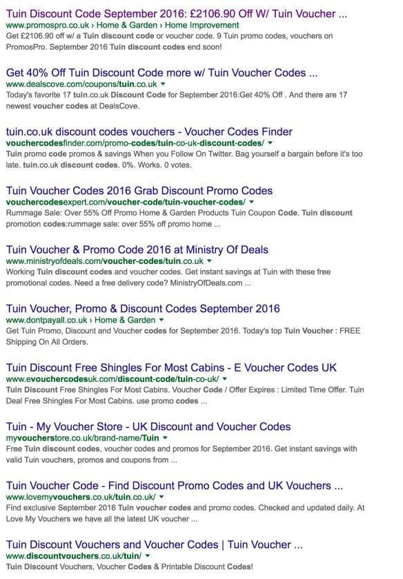 Tuin Voucher Code web search