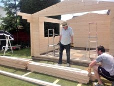 Derby Log Cabin Apex Installation