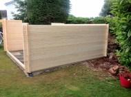 Derby Log Cabin Wall Installation