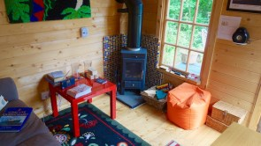 An Inside View Of The Agnes Log Cabin