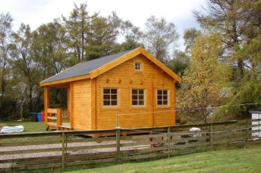 A Treated Edelweiss Log Cabin
