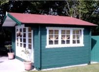 Painted Blackpool Log Cabin