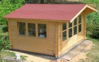 Clear Treated Blackpool Log Cabin