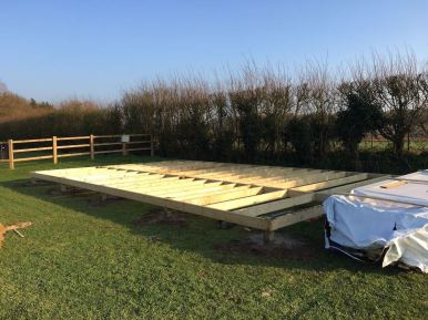 Installing the Timber Frame Base