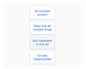 Advert Reporting Options