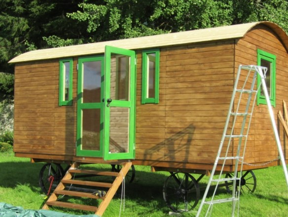 Shepherd Hut Deluxe Doors