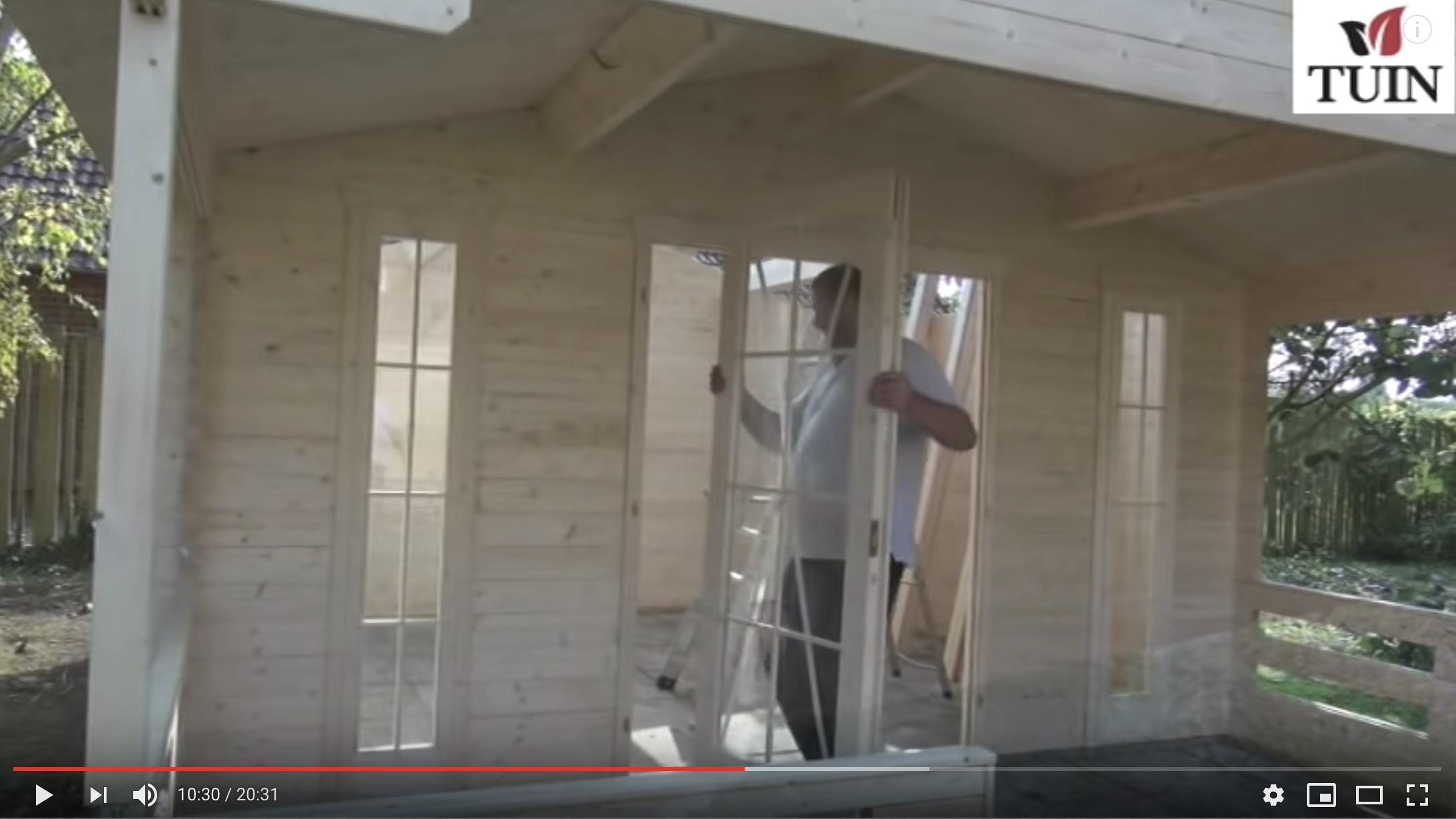 Log cabin fitting tips tuin tuindeco
