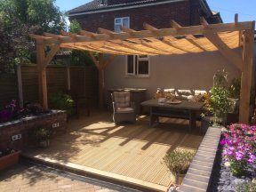 Sliding Garden Shade Awning