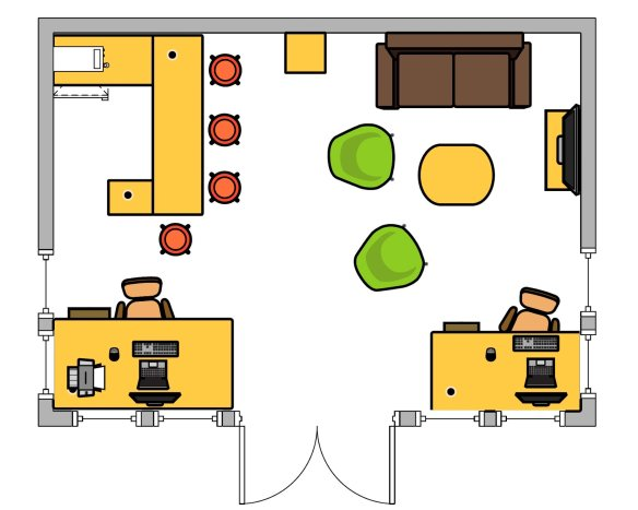 Clockhouse Log Cabin Layout
