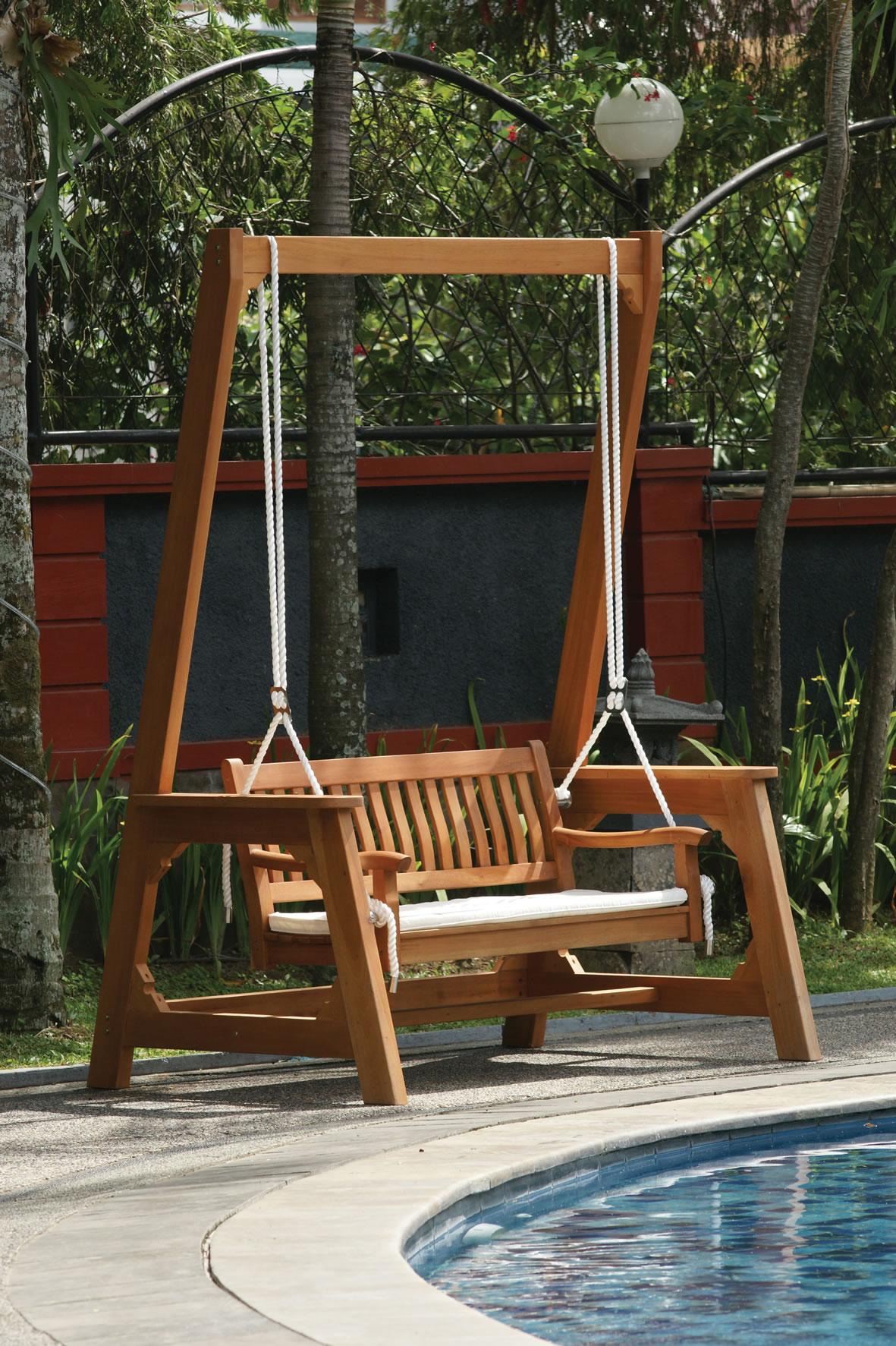 swing chair hire tolix marais hardwood garden bench