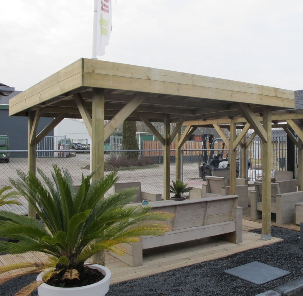 Medium Modern Timber Gazebo 365x365m