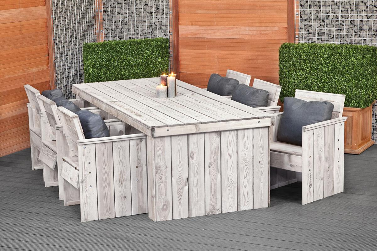 outdoor wooden sofa uk martha stewart saybridge granite rustic garden dining set furniture