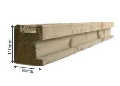 houten hoekpaal