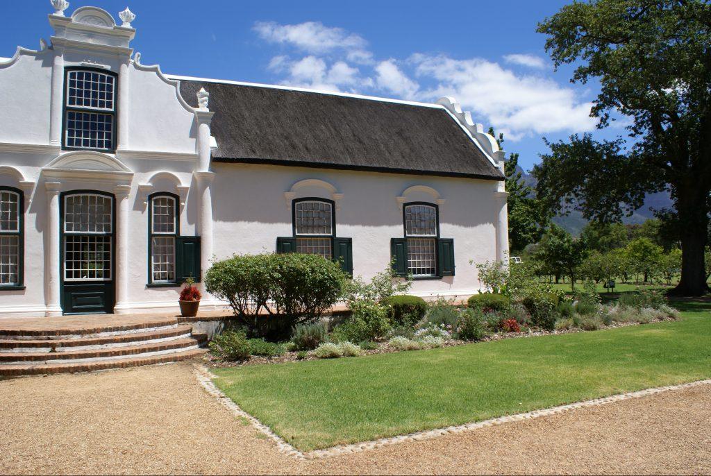 Tuin en terras van het landhuis van Boschendal