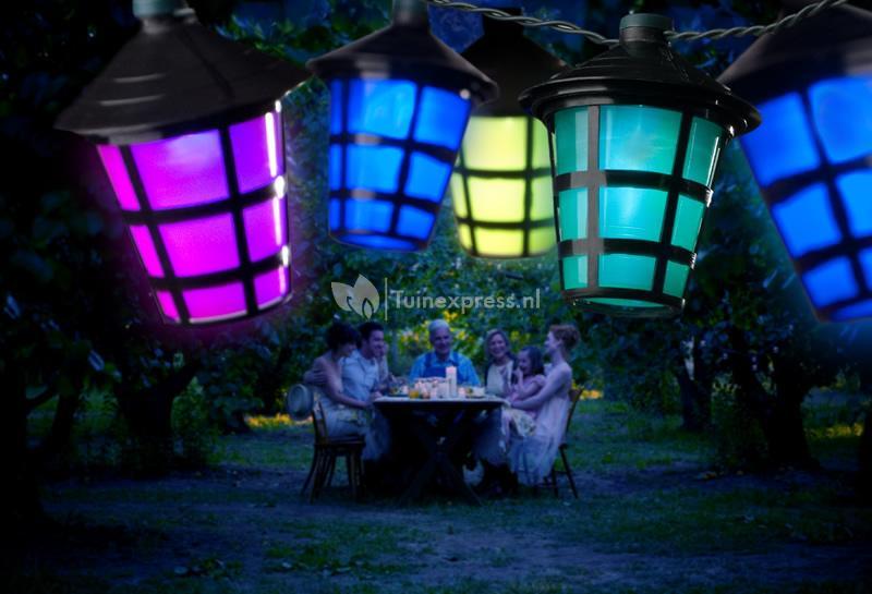 Konstsmide LED feestverlichting met gekleurde lampionnen