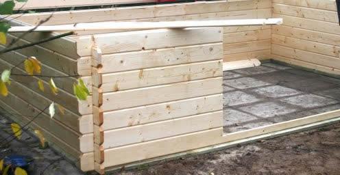 Bouwpakket of zelf bouwen van een tuinhuis of blokhut