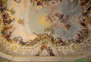 Malowidło sufitowe w pawilonie ogrodowym Opactwa