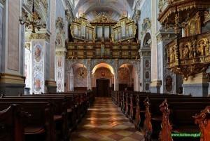Wnętrze kościoła w Klasztorze Gotweig