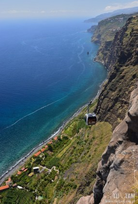 Faja dos Padres, Madera, Madeira, kolej linowa na Maderze