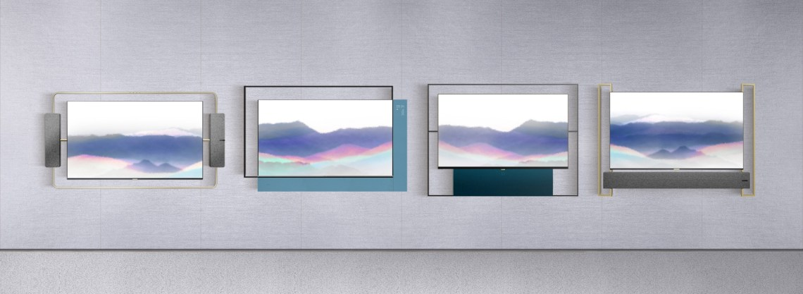 TCL_Living_Window_Series_Art_Deco,_Abstract_Beauty,_Modern_Simplicity_and_Oriental_Elegance_(from_left_to_right)