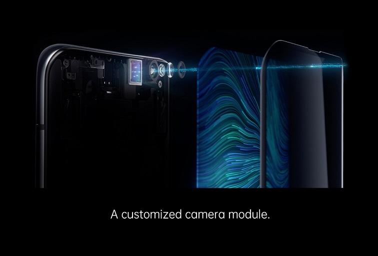 La caméra sous écran est dotée d'un module de caméra personnalisé