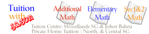 Additional Math and Math Group tuition in Woodlands and Johor Bahru. Private home tuition at north and central Singapore