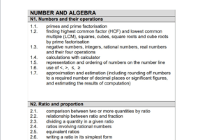 secondary 1 math exam syllabus