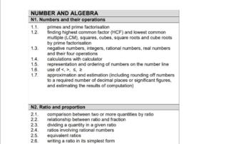 secondary 1 math exam syllabus