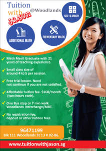 Math and Additional Math group tuition at woodlands