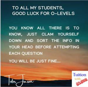 image all the best for your O-Level math and additional math