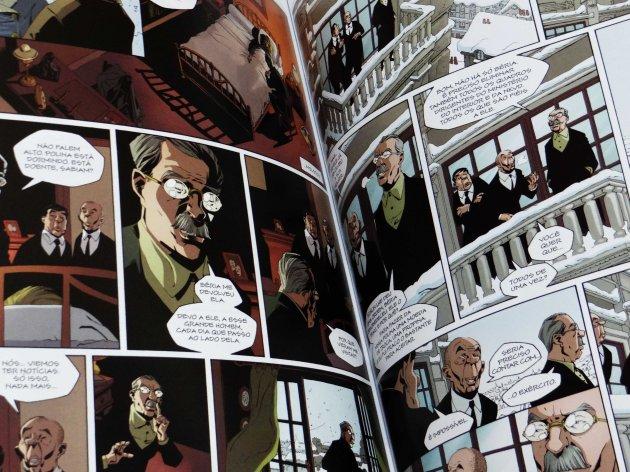 Páginas de A Morte de Stálin por Therry Robin.