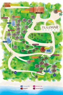 Tulemar Bungalows & Villas Property Map