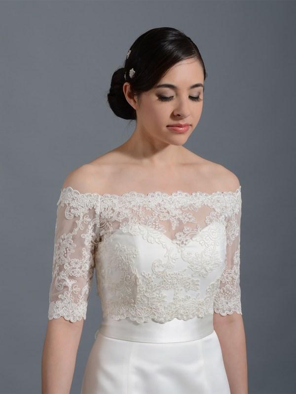 Shoulder Wedding Jacket Lace Bolero Wj003