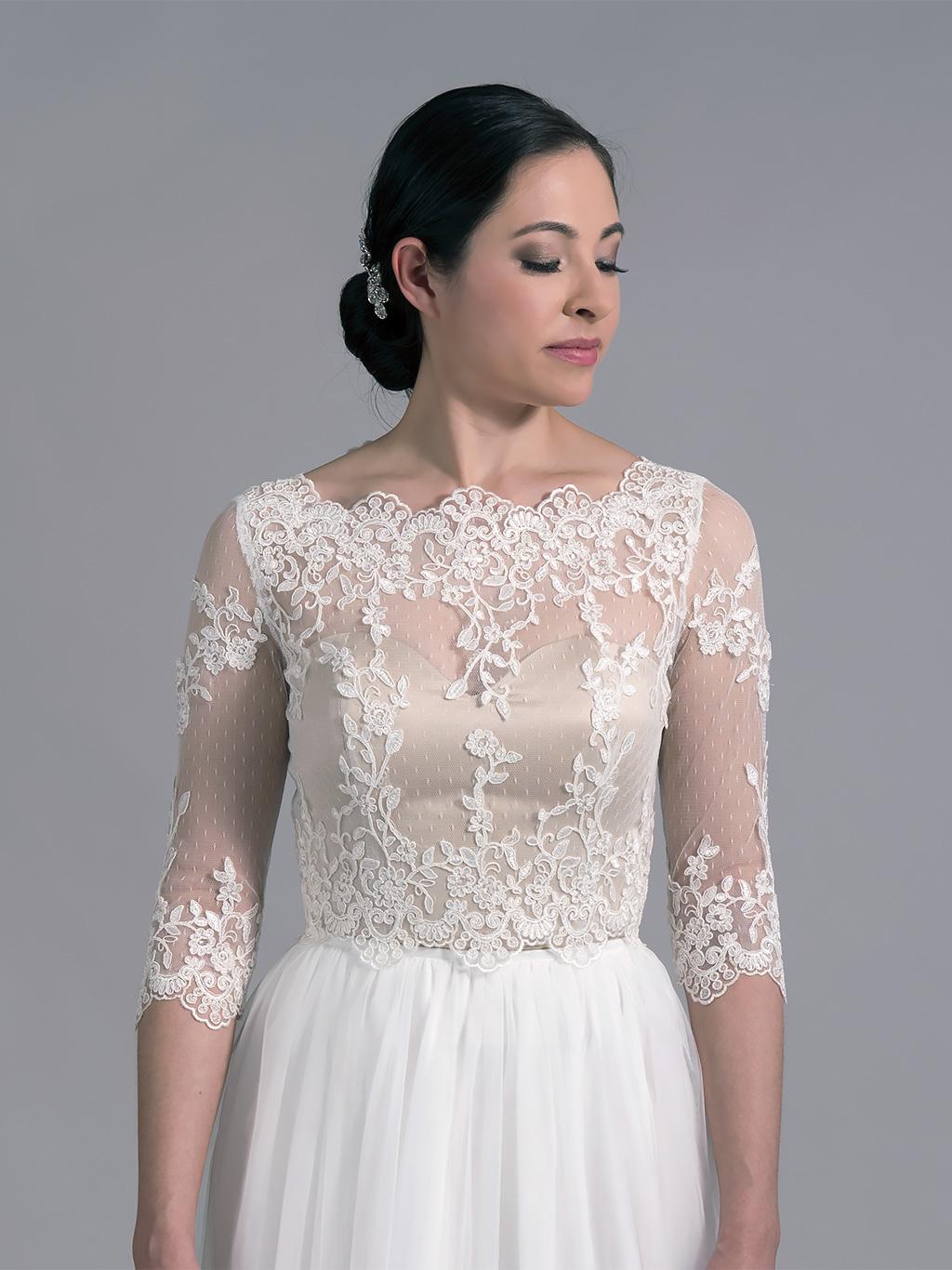 Bridal bolero lace WJ022