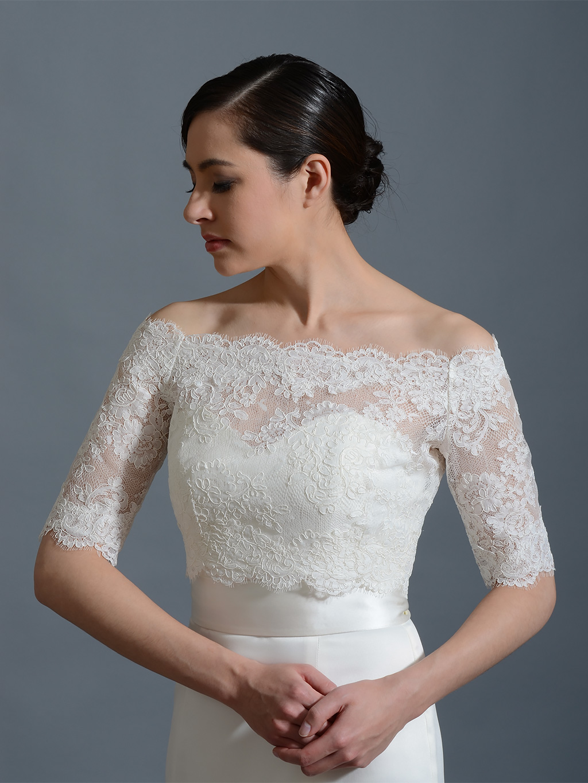 OffShoulder Bridal Bolero Wedding jacket WJ002