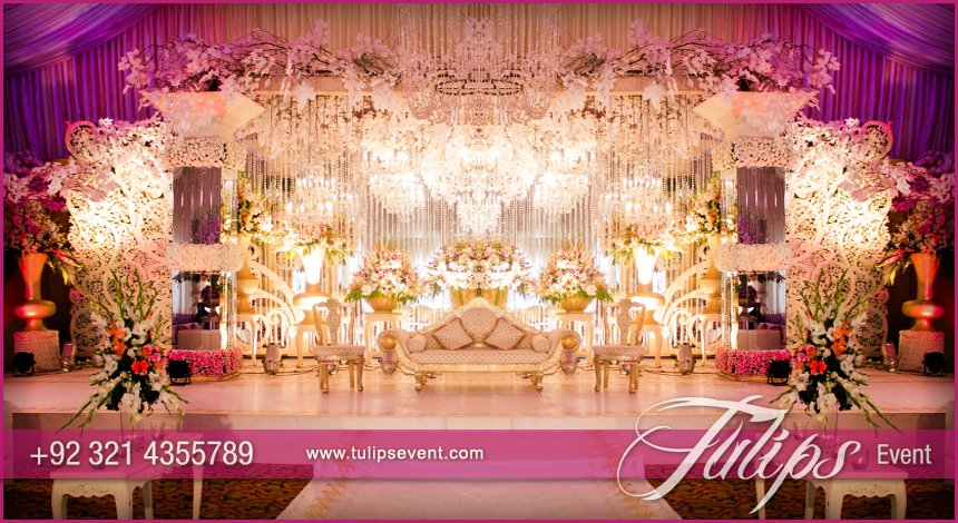 low cost chair covers clear rail grand walima stage decoration setup planner in pakistan