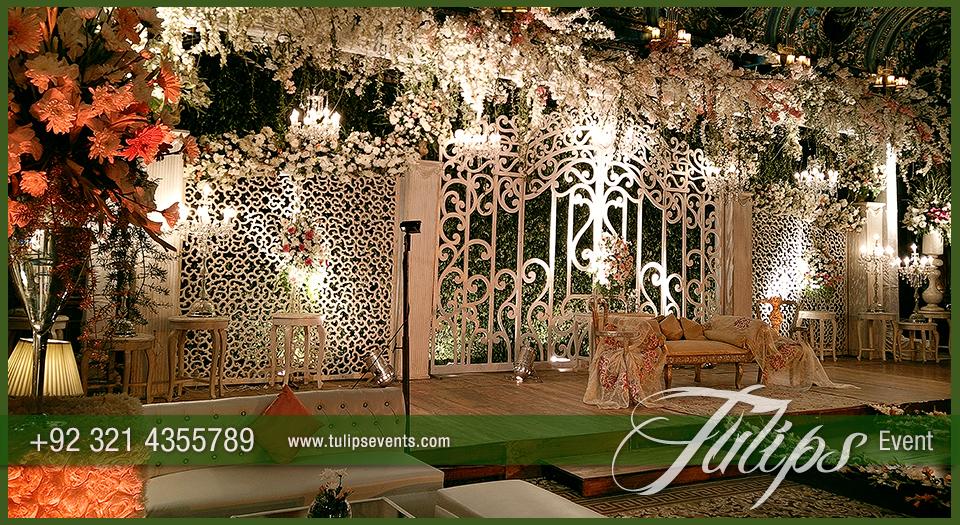 Fairy wedding gate stage design ideas in Pakistan 05