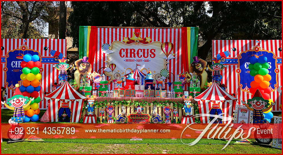 circus theme carnival party planner tulips events in pakistan 17