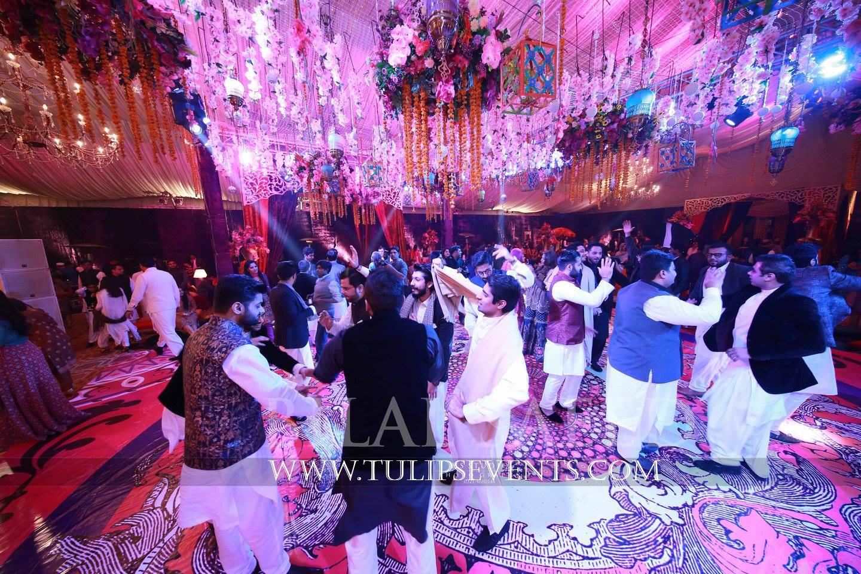 Mehndi Event Planner : Enchanted mehndi stage dance floor roof decoration ideas